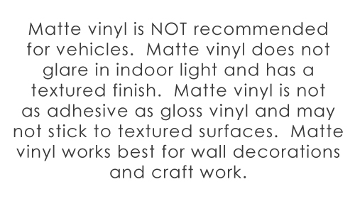 wall decals matte vinyl