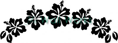 Hawaiian Flowers (5) vinyl decal