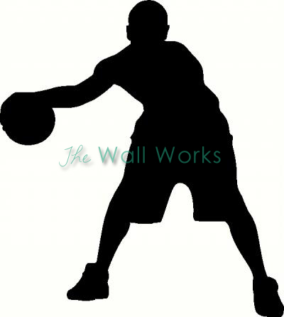 Basketball Dribble vinyl decal