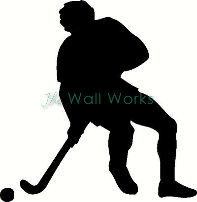Hockey Player vinyl decal