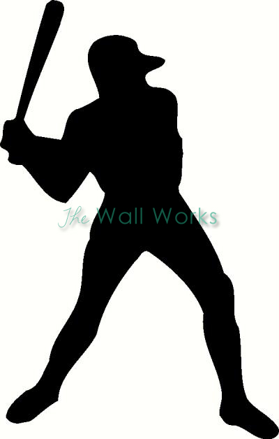 Baseball Player vinyl decal