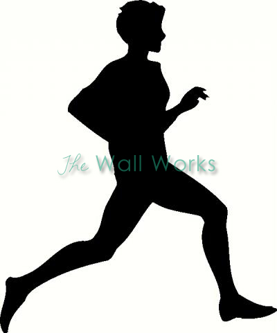 Runner (2) vinyl decal