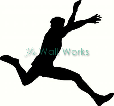 Long Jump vinyl decal