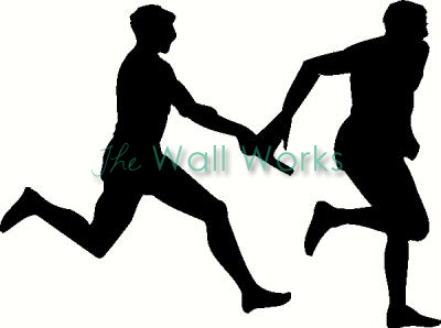 Relay Race vinyl decal