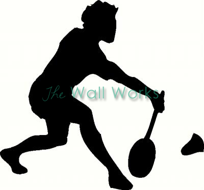 Badminton vinyl decal
