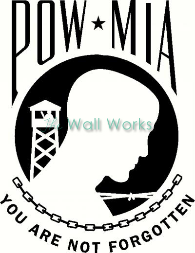 POW-MIA vinyl decal