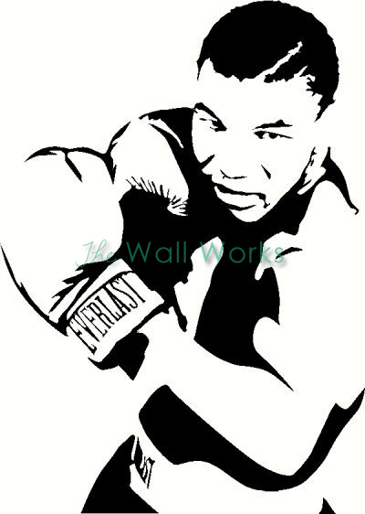 mike tyson wall sticker  vinyl decal