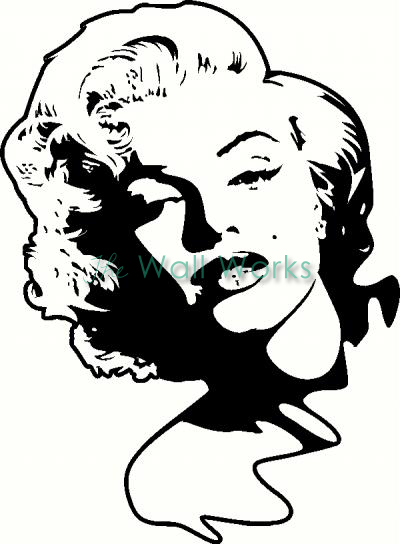 Marilyn Monroe (1) vinyl decal
