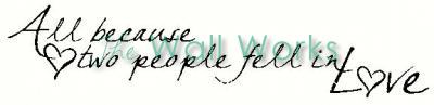 Two People Fell in Love vinyl decal