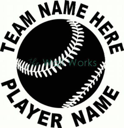 Baseball (2) vinyl decal