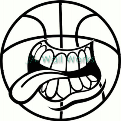 Basketball Mouth vinyl decal