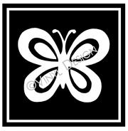 Butterfly Outlline Box vinyl decal