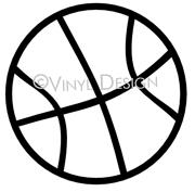 Basketball (1) vinyl decal