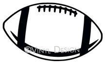 Football Outline vinyl decal