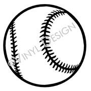 Baseball vinyl decal