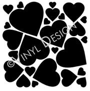 Set of Hearts vinyl decal