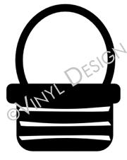 Basket vinyl decal