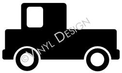 Pickup Truck vinyl decal