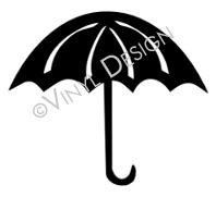 Umbrella vinyl decal