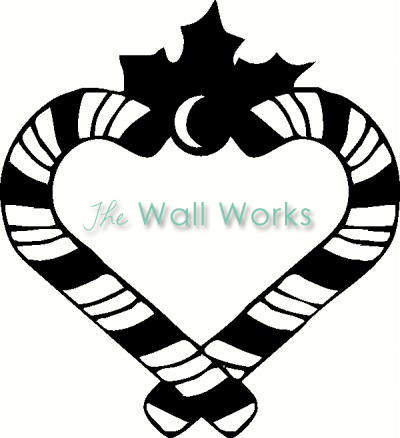 Candy Cane Heart vinyl decal