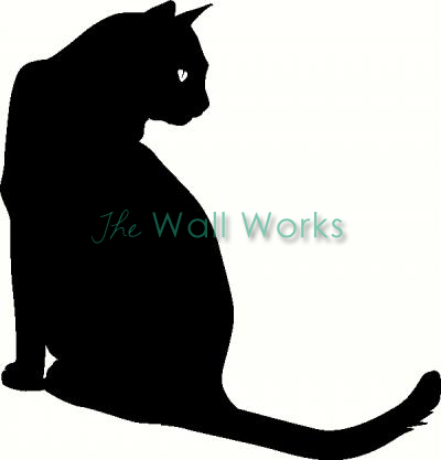 Cat Sitting vinyl decal