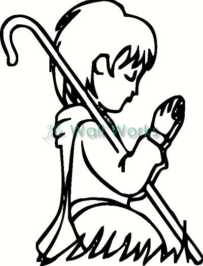 Child Praying vinyl decal
