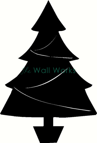 Christmas Tree (1) vinyl decal