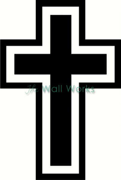 Cross (4) wall sticker, vinyl decal | The Wall Works