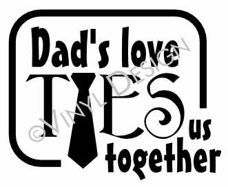 Dad's Love vinyl decal