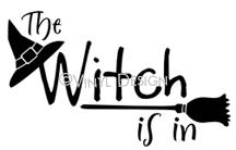 The Witch is In (1) vinyl decal
