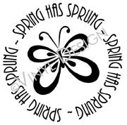 Spring Has Sprung - Butterfly vinyl decal