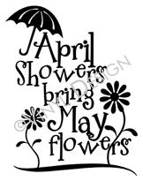 April Showers Bring May Flowers vinyl decal