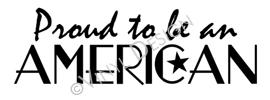 Proud to be an American vinyl decal