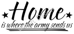 Where the Army Sends Us vinyl decal