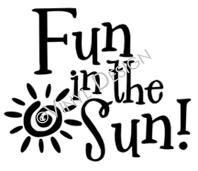 Fun in the Sun vinyl decal