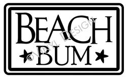 Beach Bum vinyl decal