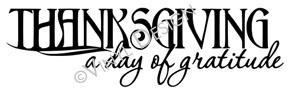 A Day of Gratitude vinyl decal