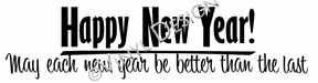 Happy New Year (1) vinyl decal