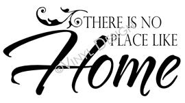 There is No Place Like Home vinyl decal