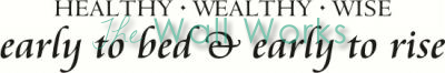 Healthy Wealthy Wise vinyl decal