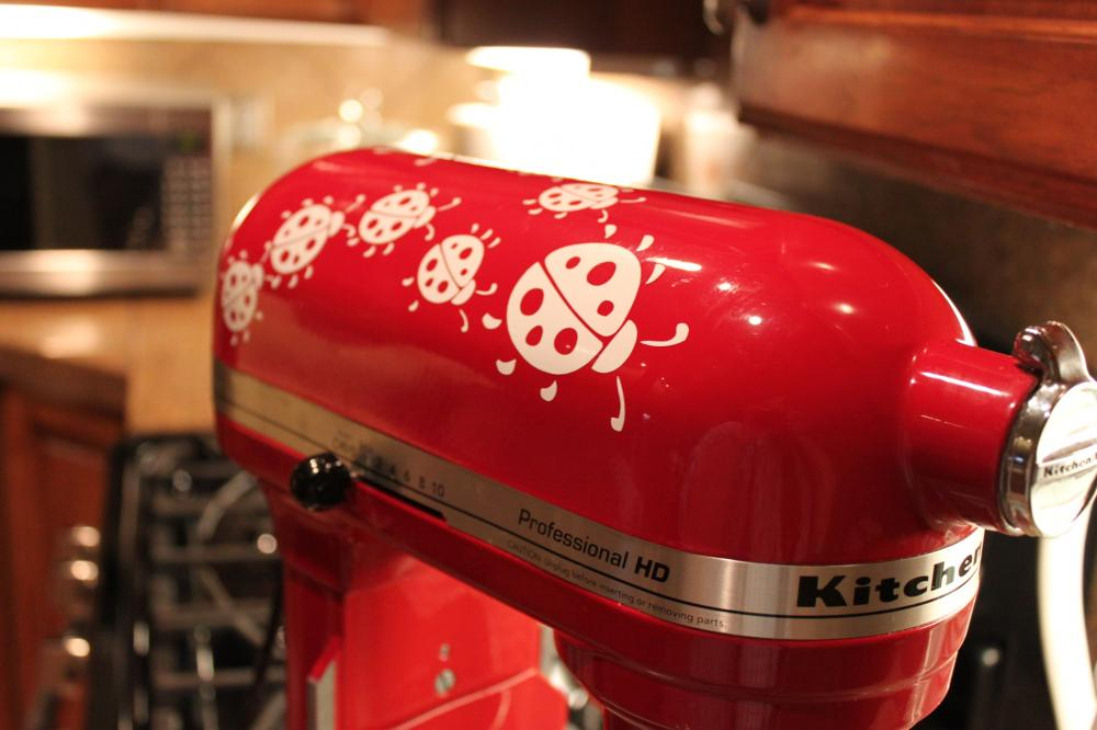 Lady Bugs Kitchenaid Decal vinyl decal