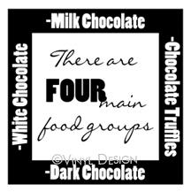 Chocolate vinyl decal