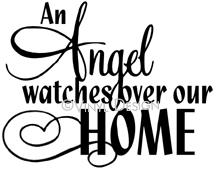 An Angel Watch Over This Home vinyl decal