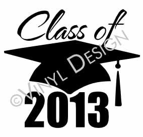 Class of 2013 (2) vinyl decal