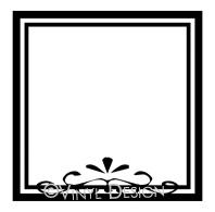 Decorative Square Border vinyl decal