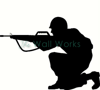 Soldier (2) vinyl decal