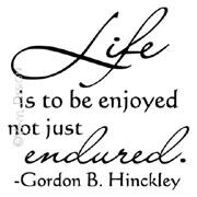 Life is to Be Enjoyed (1) vinyl decal