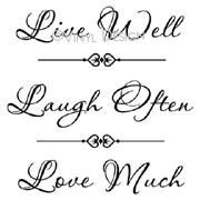 Live Well - Laugh Often - Love Much vinyl decal