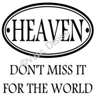 Heaven (1) vinyl decal