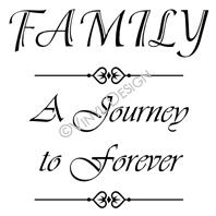 Family - A Journey to Forever vinyl decal